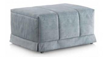 funda puf cama en gris