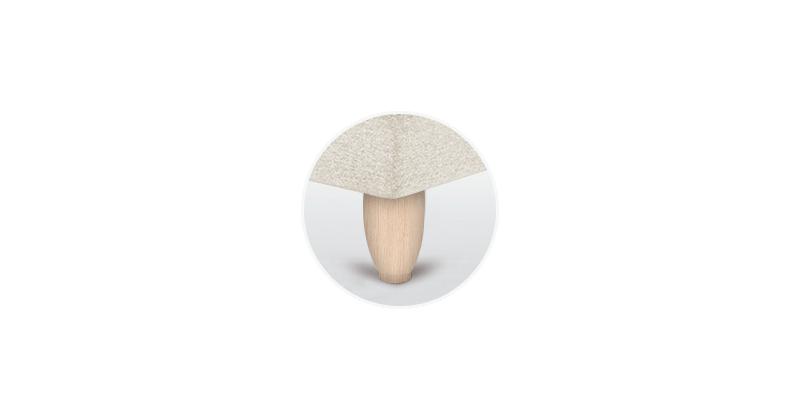 patas canape ovales abedul