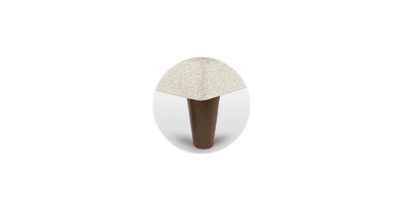 pata canape conica chocolate