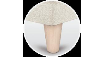 patas canape conicas abedul
