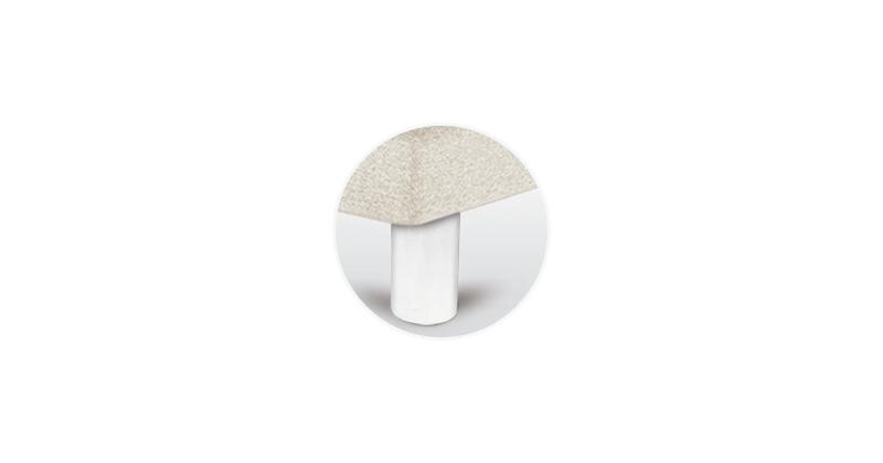 patas canape cilindrica blanca