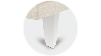 patas piramidales blancas tapibase
