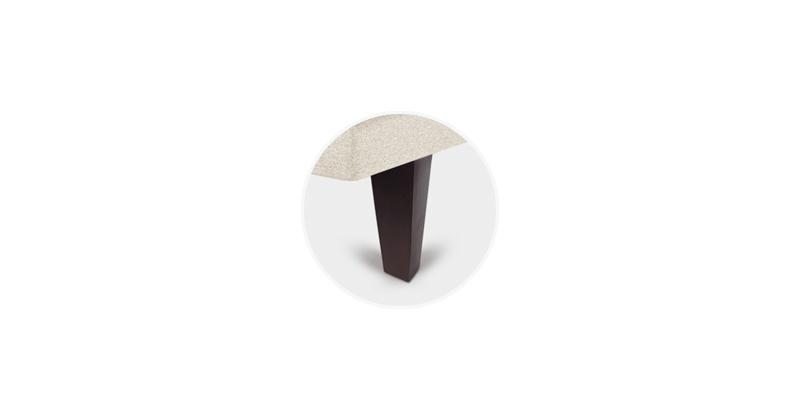 patas tapibase piramidales chocolate