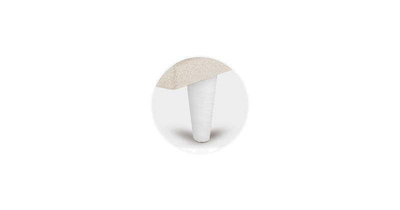 patas conicas blancas