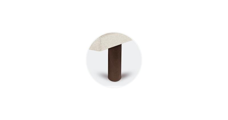 patas tapibase cilindricas chocolate