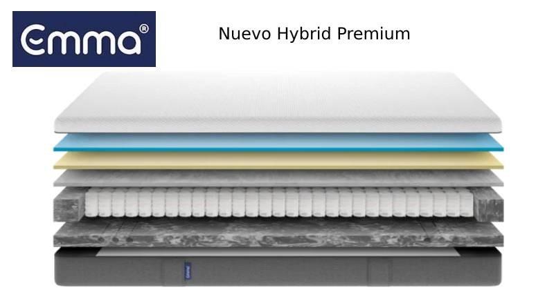 colchon Emma hybrid premium en capas